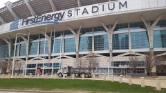 Ouside of First Energy Stadium, home of the Cleveland Browns