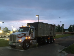 One of our new trucks in action