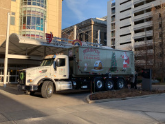 Delivering the toys to Rainbow Babies and Children's Hospital
