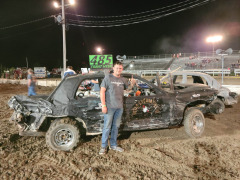Congratulations to Trent for taking first place in the demolition derby!
